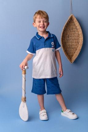 Zeyland Mavi Renk Bloklu Polo Yaka T-shirt (5-14YAŞ)
