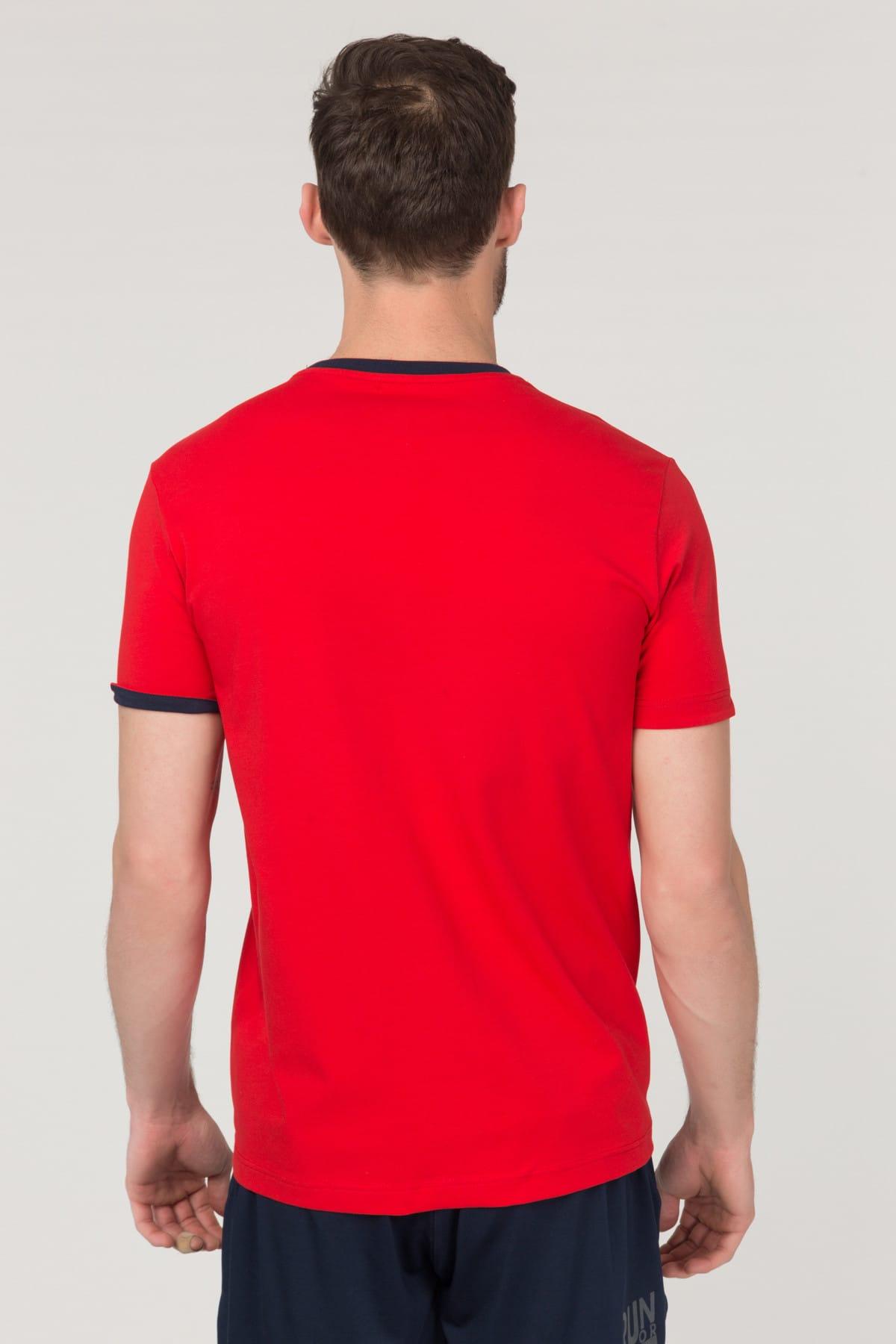bilcee Kırmızı Pamuklu Erkek T-Shirt FS-1630 2