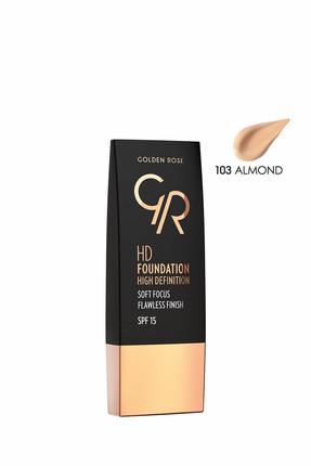 Golden Rose Fondöten - HD Foundation High Definition 103 Almond 8691190832537