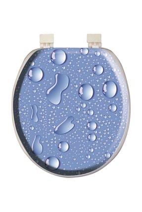 Alper Banyo 1106 - Damla Desenli Lüx Süngerli Klozet Kapağı