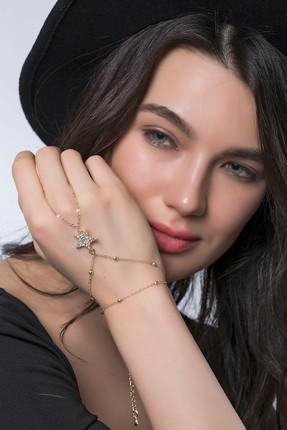 Modex Kadın Altın Kaplama, Taşlı Yıldız Şahmeran UVSH9974
