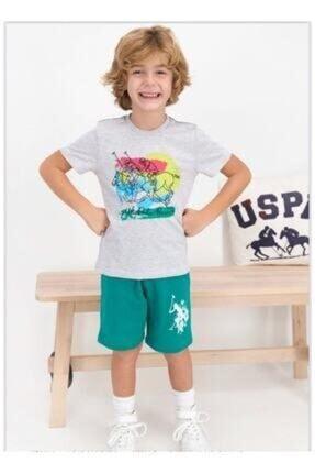 U.S. Polo Assn. Erkek Çocuk Kar Melanj Takım  814-g