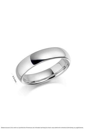 Çağrı Gümüş Sade Minimal Bombeli Eklem Gümüş Alyans Söz Nişan Yüzüğü 3 Mm