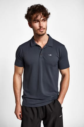 Lescon 19s-1275-19b Gri Erkek Kısa Kollu Polo Yaka T-shirt