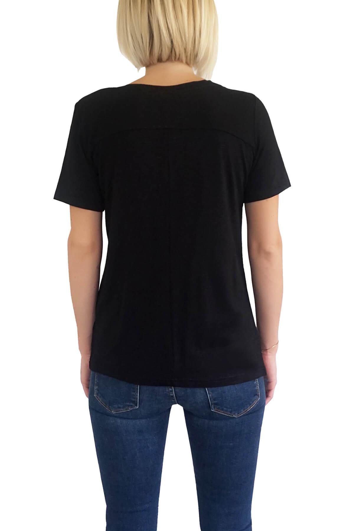 MOF Kadın Siyah T-Shirt VYCT-S 2