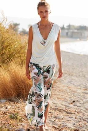 Penyemood Kadın Renklı Plaj Pantolon Takım P218YPJ00030