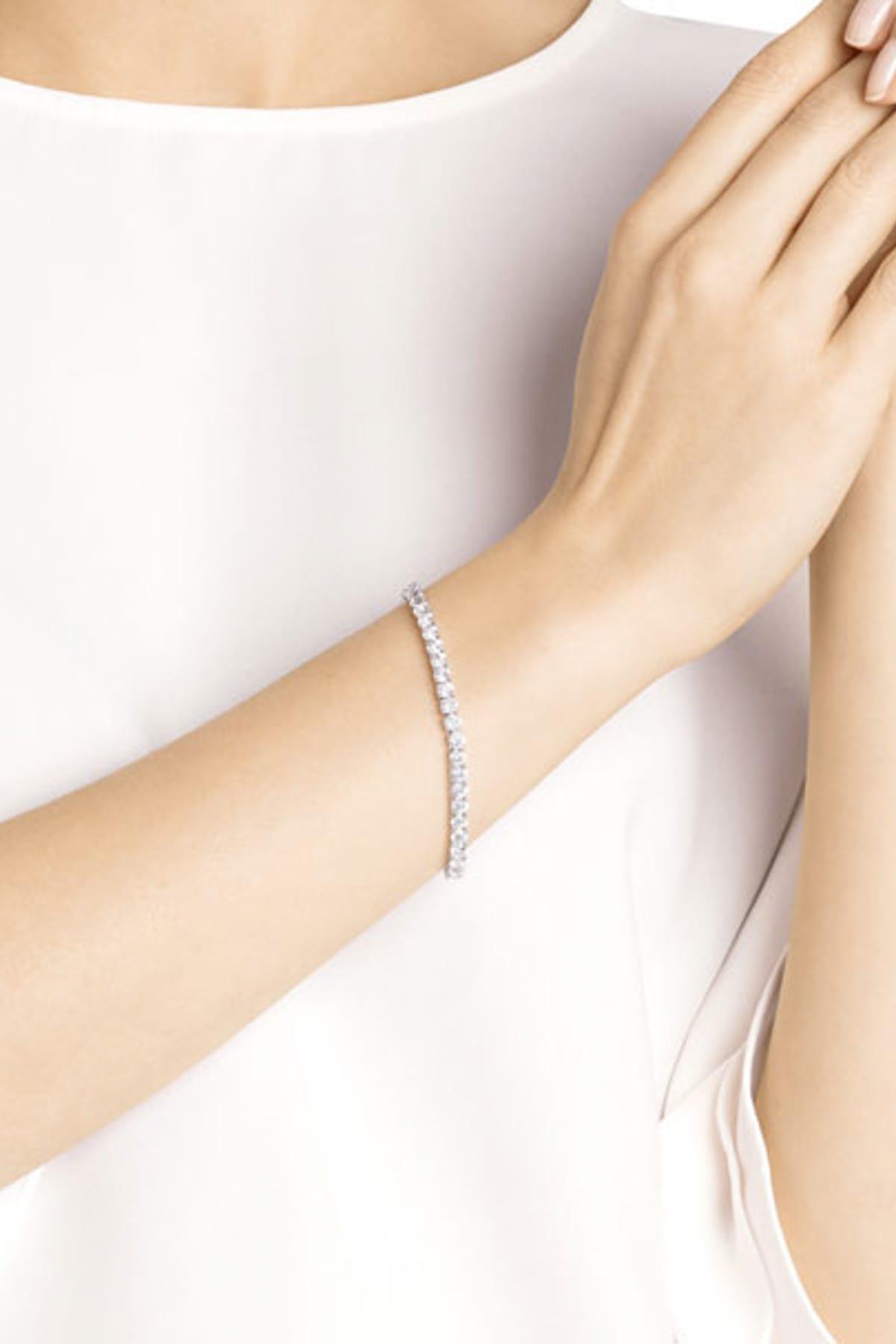 Swarovski Kadın Bilezik Tennis:Bracelet Rnd Dlx Czwh/Rhs M 5409771 1