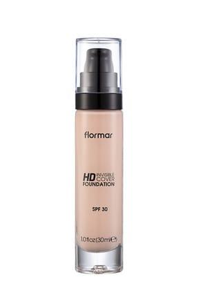 Flormar Fondöten - Invisible Cover HD Foundation No: 10 Pink Porcelain 8690604526062