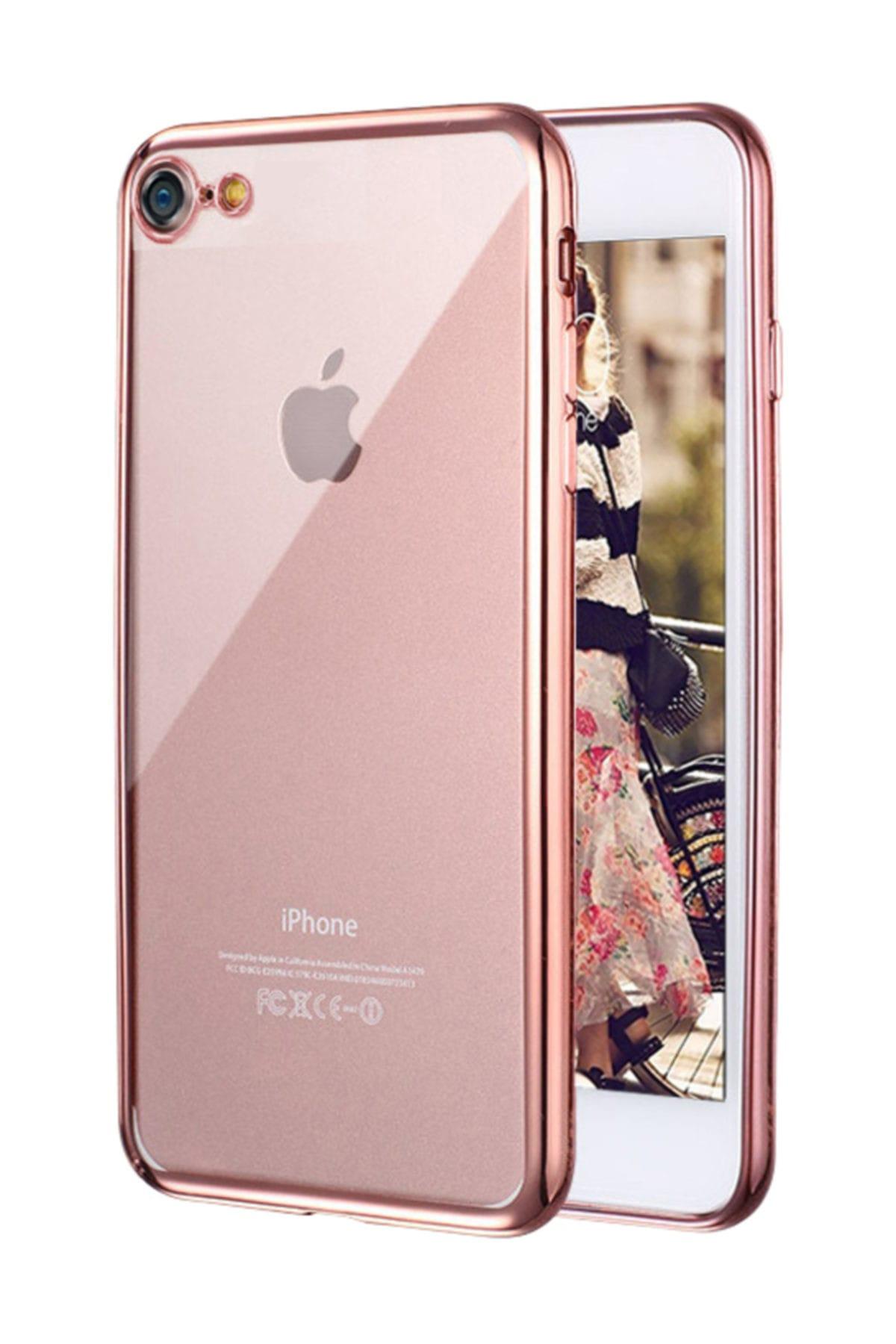 Microsonic Apple iPhone 7 Kılıf Flexi Delux Rose Gold 1