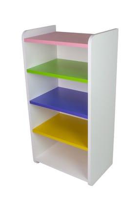 Pratico Renkli Çok Amaçlı Dolap 4 Raflı