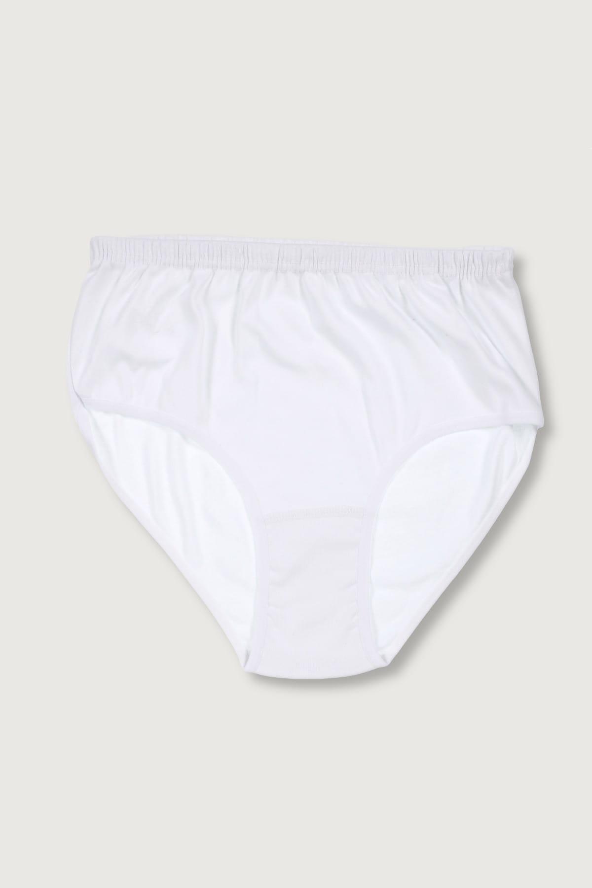 Tutku Kadın Beyaz 6'lı Paket  Ribana Bato Külot ELF568T0922CCM6 2