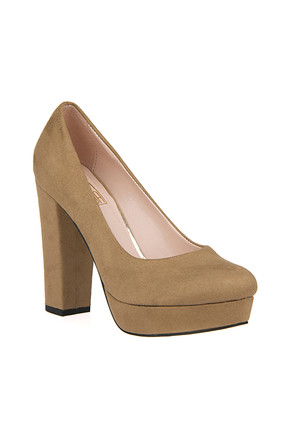Ziya Camel Kadın Topuklu Ayakkabı 9176 7238-1