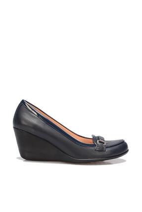 İnci Hakiki Deri Lacivert Kadın Dolgu Topuklu Ayakkabı 120130009805