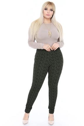 Moday Kadın Desenli Esnek Tayt 4B-0396 4B-0396