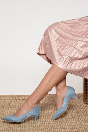 Shoes Time Mavi Kadın Topuklu Ayakkabı 17K 1951