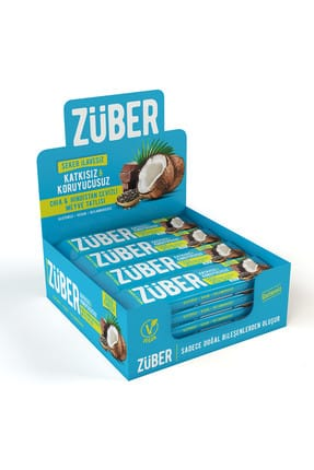 Züber Chia ve Hindistan Cevizli Meyve Tatlısı - 40 gr x 12 Adet