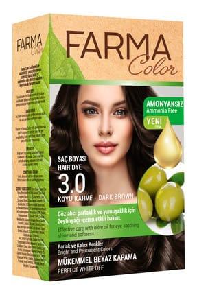 Farmasi Farmacolor Saç Boyası 3.0 Koyu Kahve 8690131113049