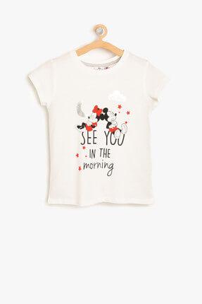 Koton Kids Kız Çocuk Ekru Pijama Üstü 8YKG21186AK