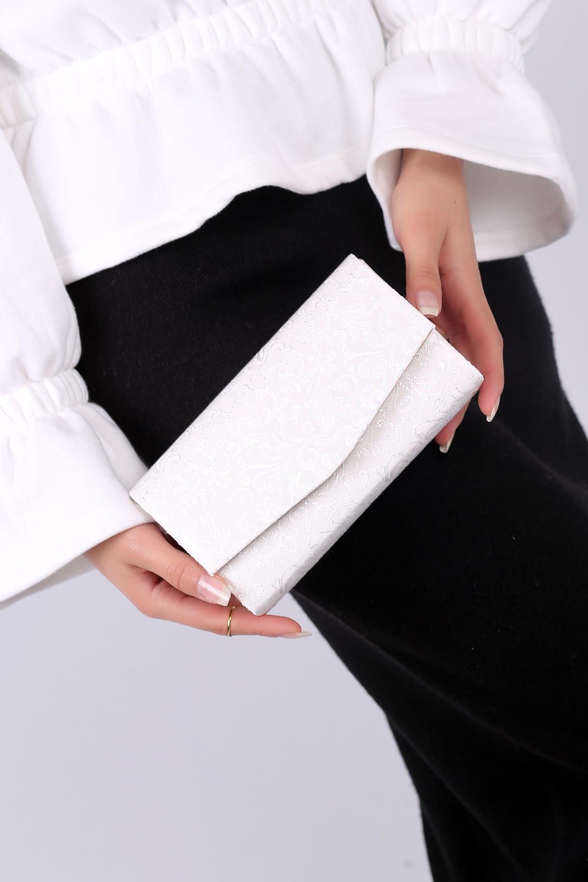 WMİLANO Beyaz Dantel Kadın El Çantası C0201-18 1
