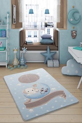 Confetti Moon Light Mavi 133x190 cm Çocuk Odası Halısı