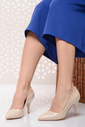 Shoes Time Bej Kadın Topuklu Ayakkabı 18Y 11905