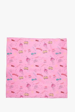 Koton Kids Pembe Kız Çocuk Desenli Şal 8Ybg55000Aa
