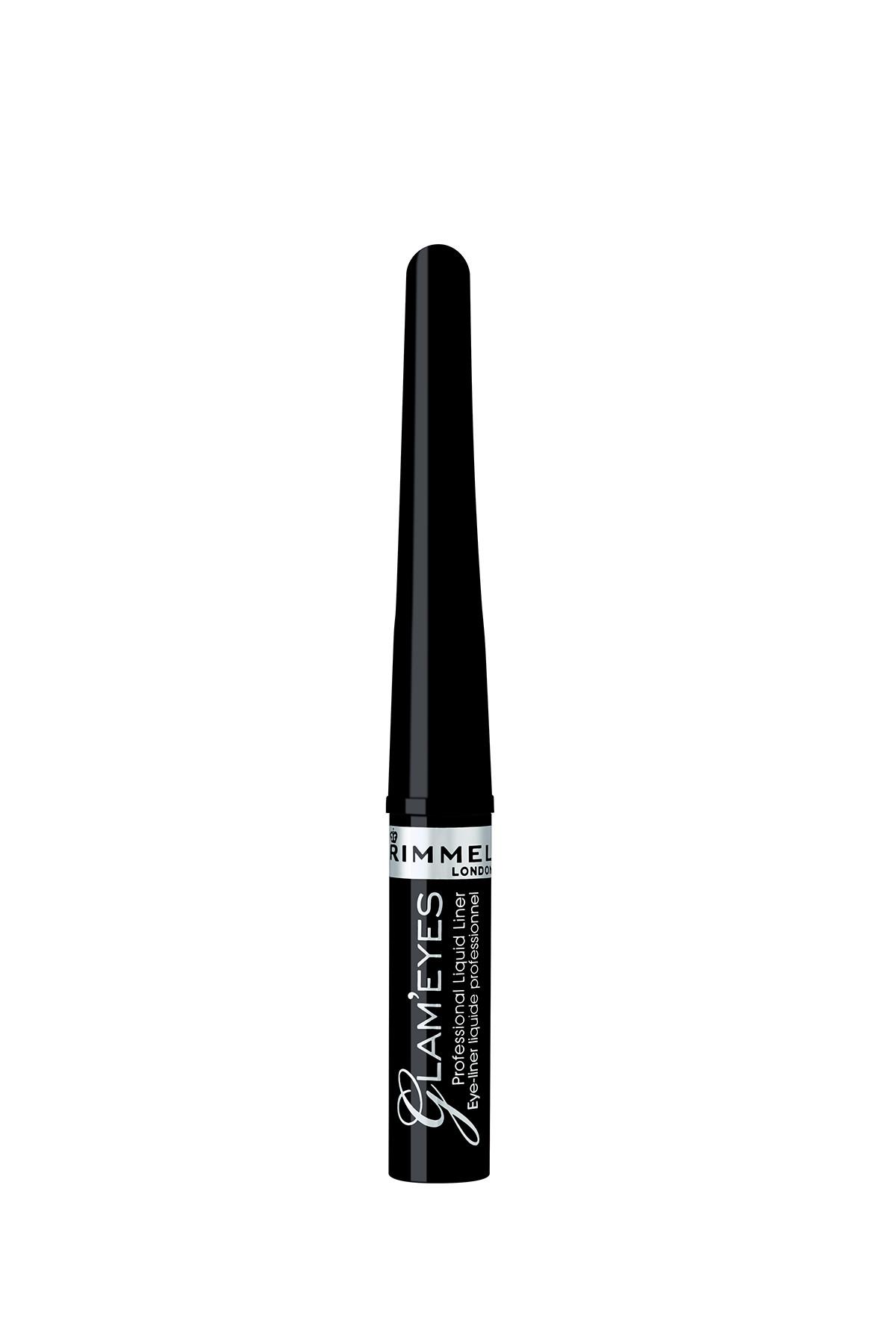 RIMMEL LONDON Siyah Eyeliner - Glam'Eyes Professional Liquid Eyeliner Black Glamour 3607344174083 2