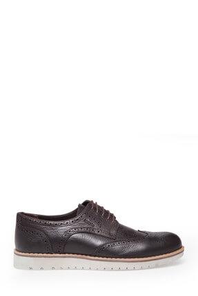 MERCEDES Hakiki Deri Erkek KAHVE Klasik Ayakkabı - ASHTON