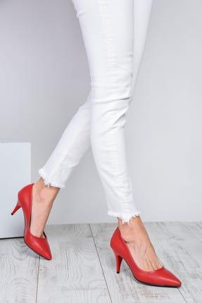 Shoes Time Kırmızı Kadın Topuklu Ayakkabı 18Y 11905