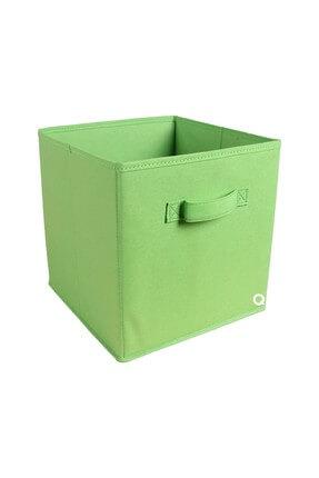 Rani Mobilya Q1 Medium Çok Amaçlı Dolap İçi Düzenleyici Kutu Dekoratif Saklama Kutusu Fıstık Yeşili