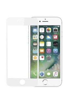 Bufalo iPhone 6/6s Kavisli 5D Cam Ekran Koruyucu Beyaz