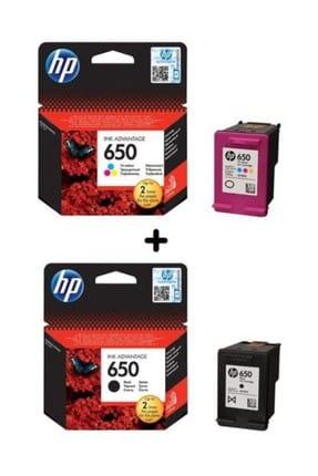HP 650 Siyah ve Renkli Kartuş Seti (CZ101AE, CZ102AE)