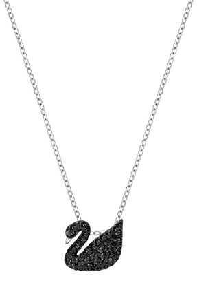 Swarovski Kadın Kolye İconic Swan:Pendant Sml Jet Hem/Rhs 5347330