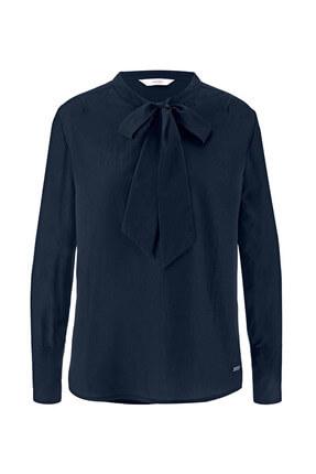 Tchibo Kurdeleli Bluz, Lacivert 85184