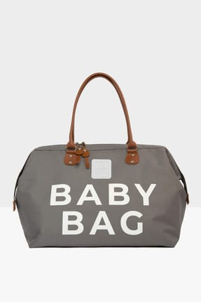 Bagmori Gri Baby Bag Baskılı Bebek Bakım Çantası