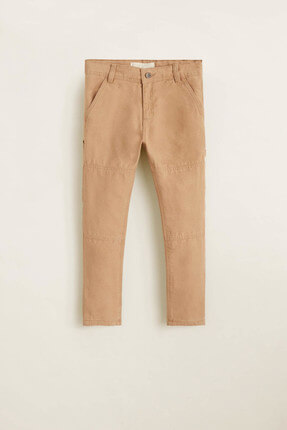 MANGO Kids Kahverengi Erkek Çocuk Pantolon