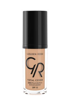 Golden Rose 2'si 1 Arada Fondöten & Kapatıcı - Total 2 in 1 Foundation & Concealer No:15 8691190963750