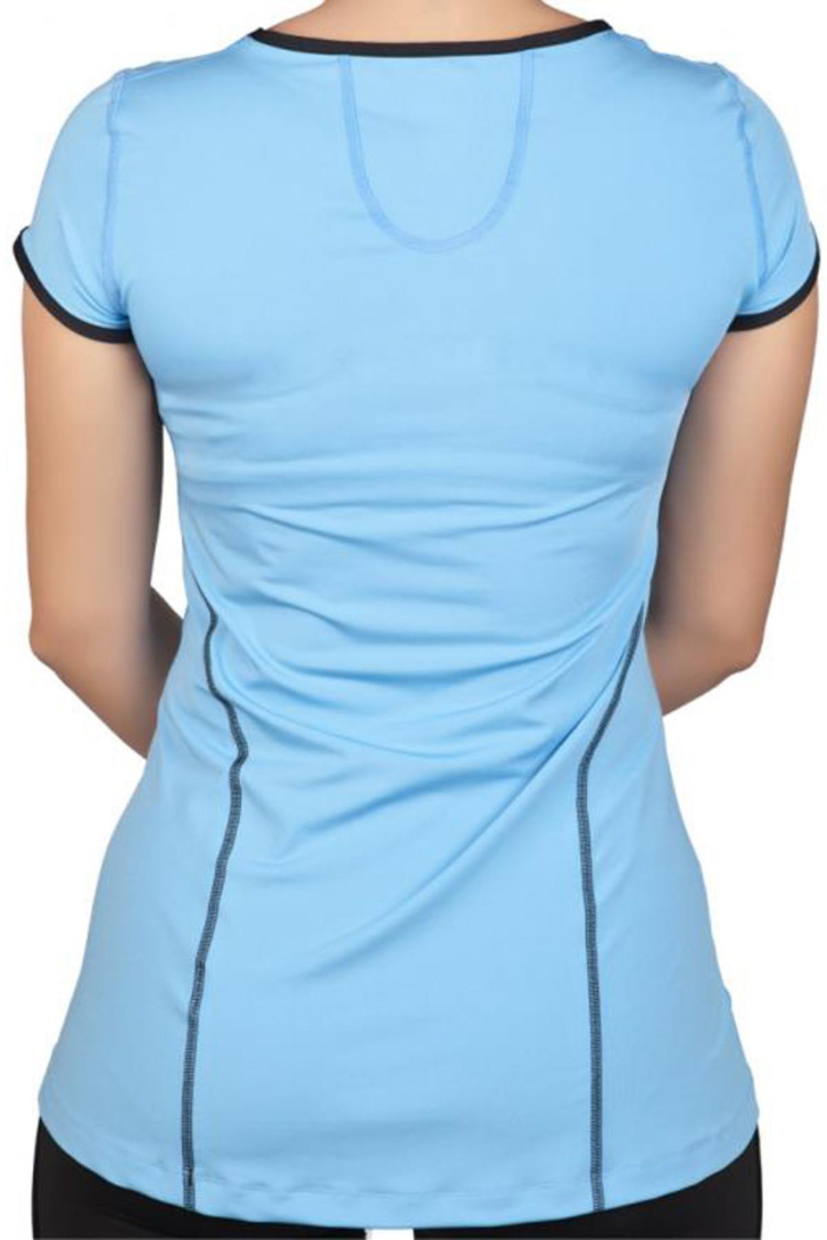 Exuma Kadın Mavi T-shirt - 142252 2