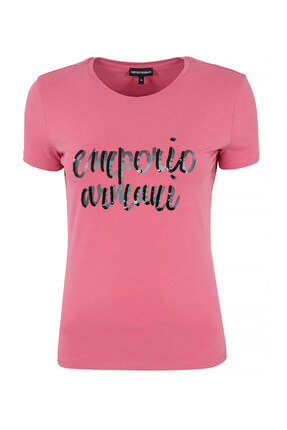 Emporio Armani Pembe Erkek T-Shirt 6Z2T81 2JQAZ 0343