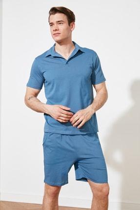 TRENDYOL MAN Mavi Örme Pijama Takımı THMSS21PT0332