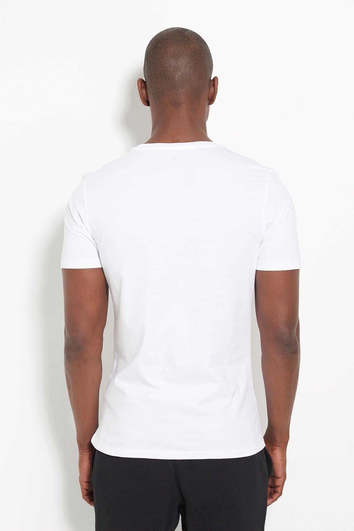New Balance Erkek T-shirt - Wolf - V-MTT902-WT 2