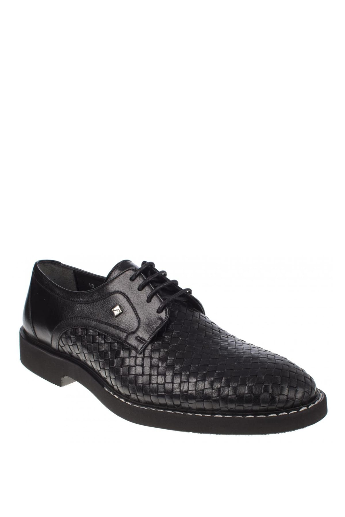 Fosco Hakiki Deri Siyah Erkek Ayakkabı 248 9036M 1