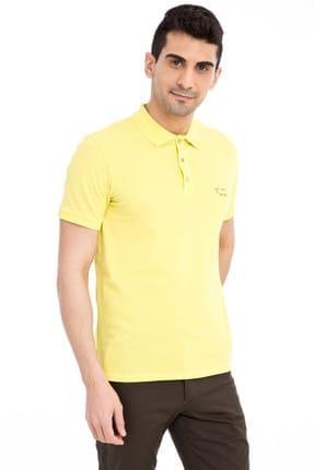 Kiğılı Erkek Sarı Tasarım - Regular Fit Polo Yaka T-Shirt - 66334
