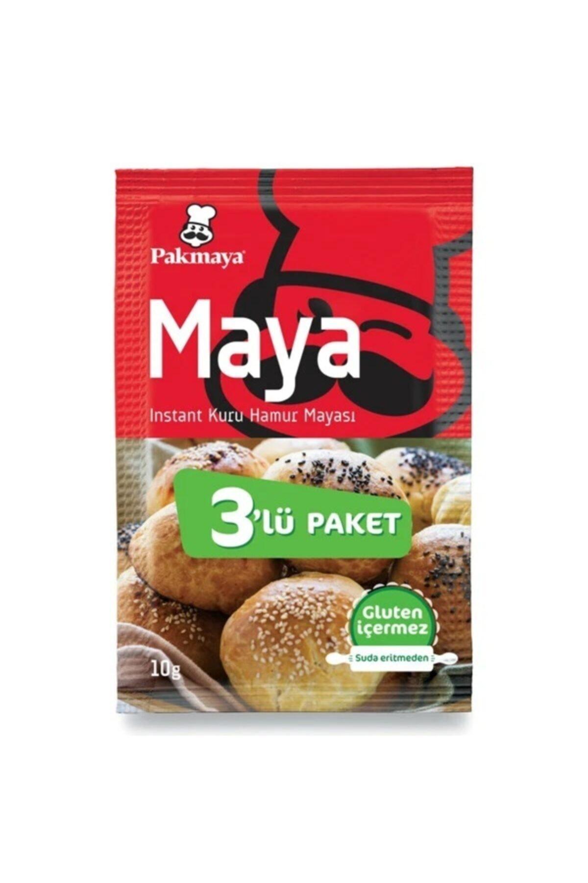 Pakmaya ,Instant Kuru Hamur Mayası, 3'lü Paket, (3x10gr), (Gluten Içermez) 1