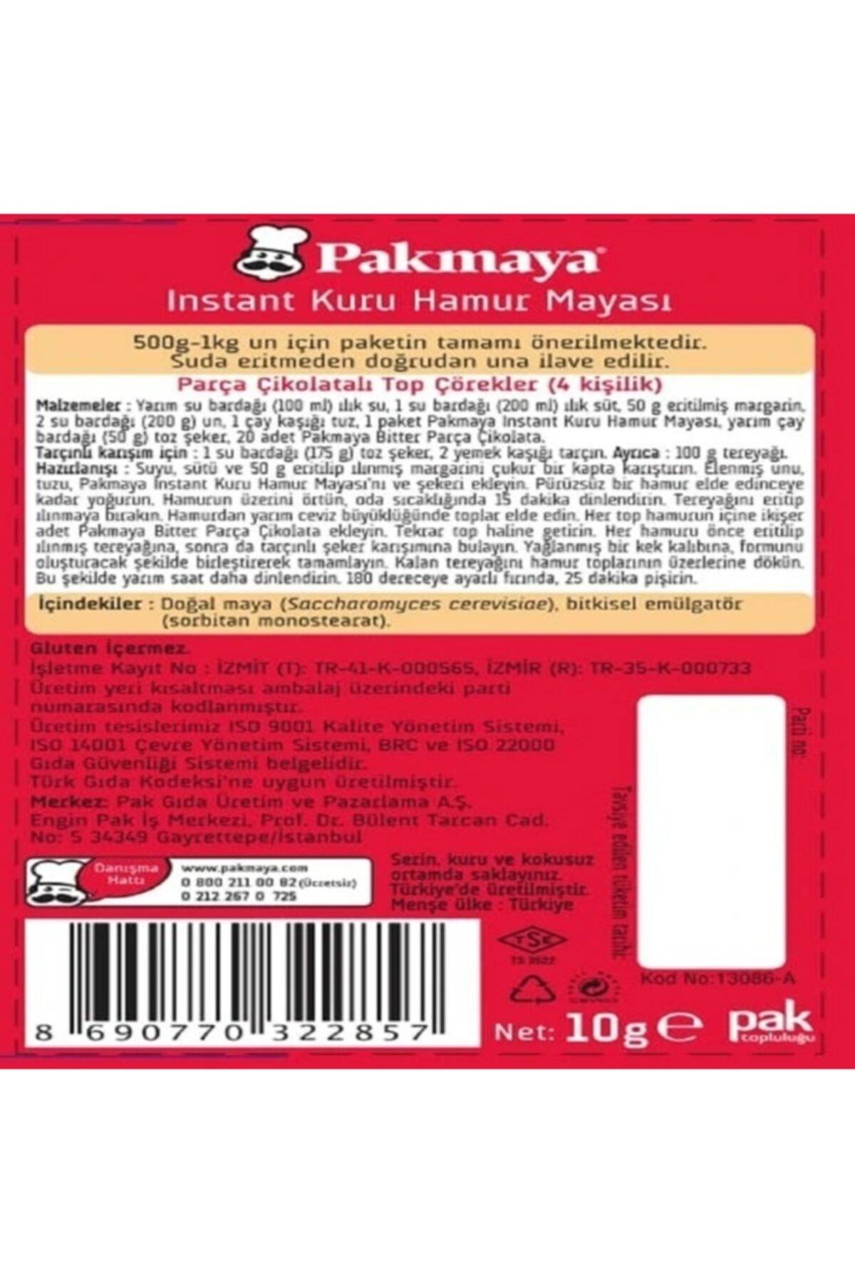 Pakmaya ,Instant Kuru Hamur Mayası, 3'lü Paket, (3x10gr), (Gluten Içermez) 2