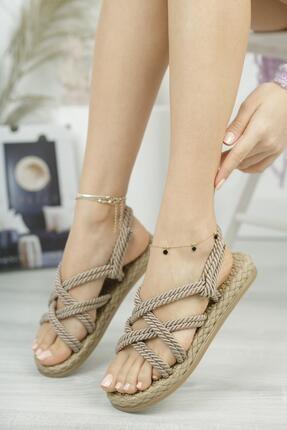 MUGGO Kadın Vizon  Sandalet
