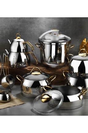 Kütahya Porselen Merkür 18 Parça Çelik Çeyiz Seti Gold