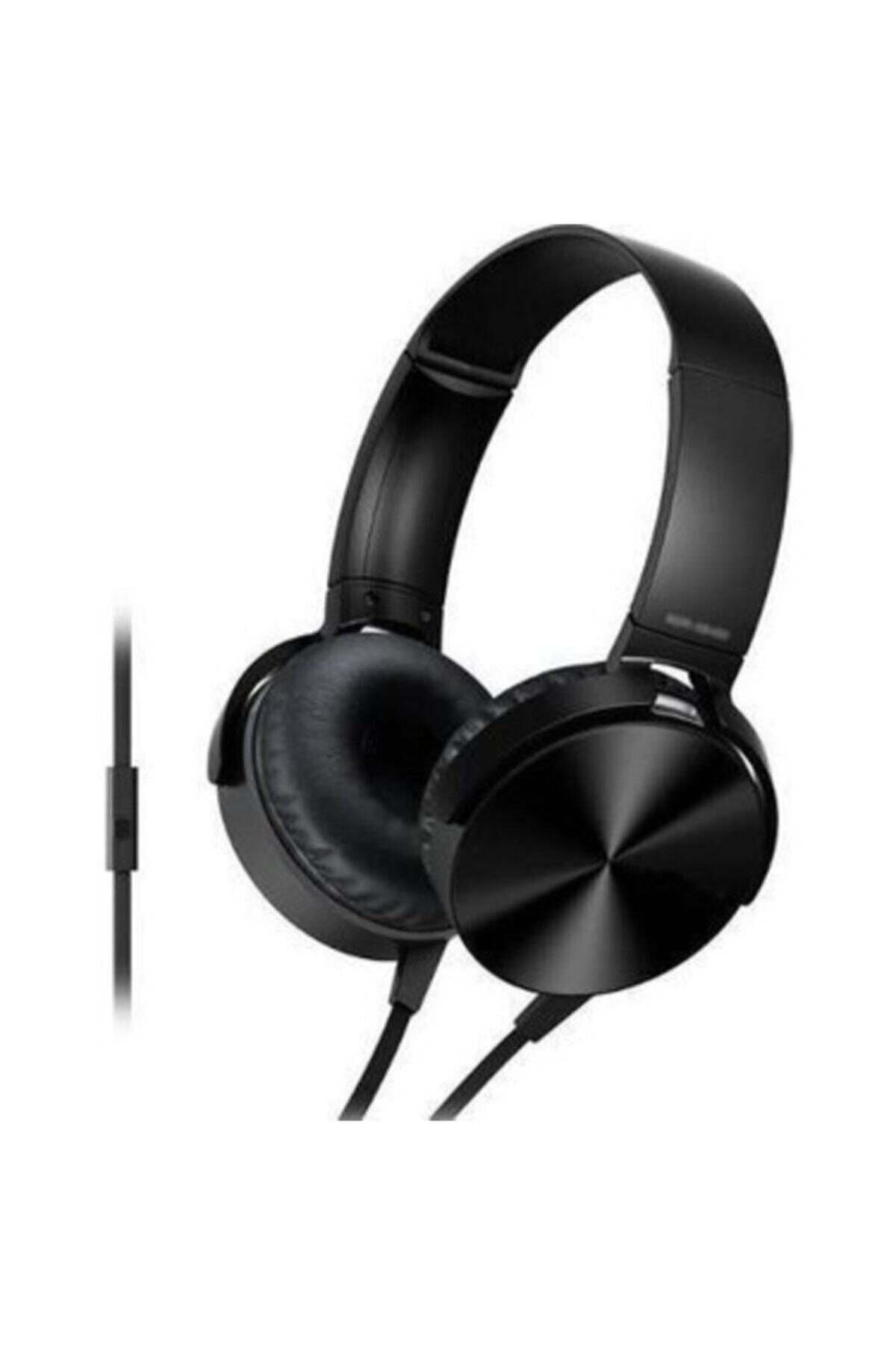 OKMORE Siyah Kafa Üstü Telefon Oyun Kulaklığı Extra Bass Stereo 1
