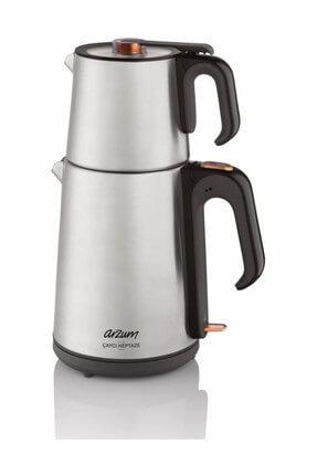 Arzum AR3023 Çaycı Heptaze Paslanmaz Çelik Çay Makinesi - Inox