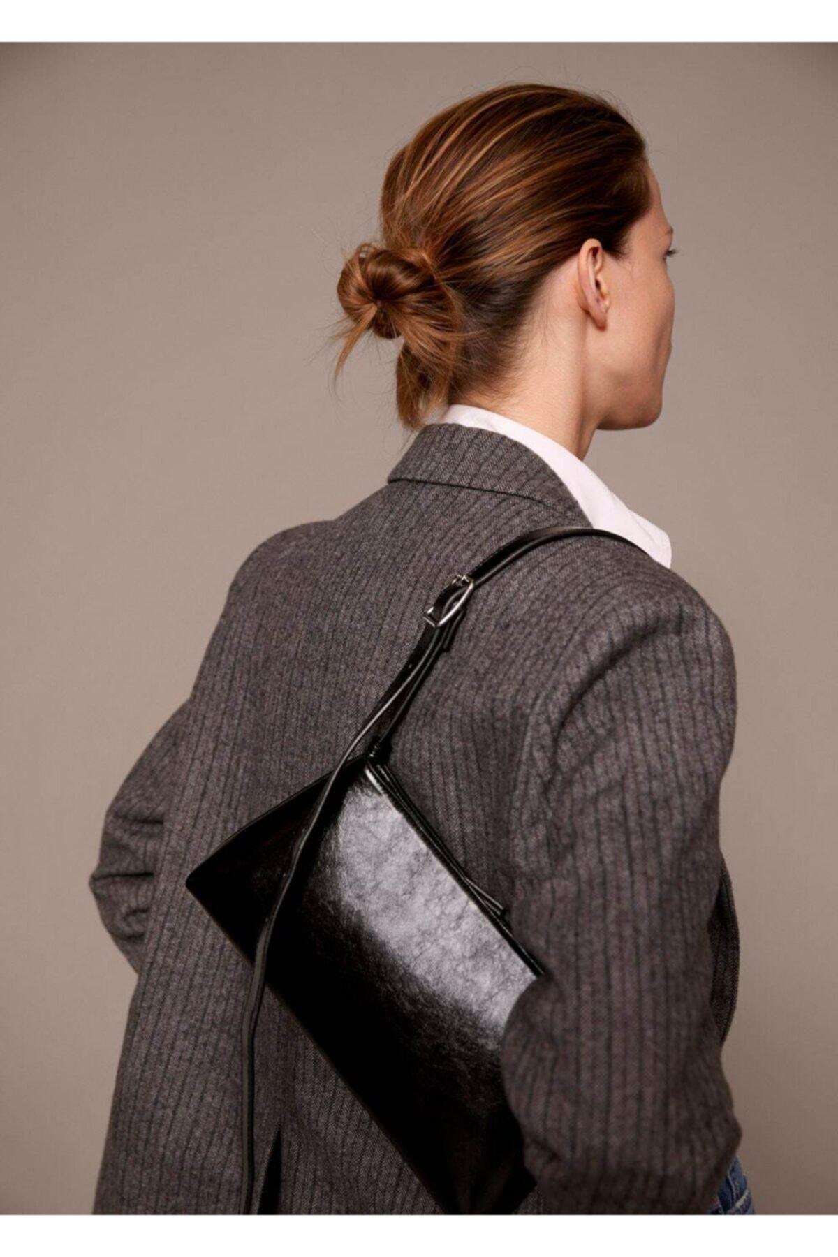 MANGO Woman Kadın Siyah Baguette Çanta 2